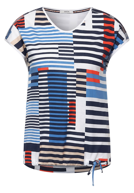 Cecil T-Shirt mit Smok-Details