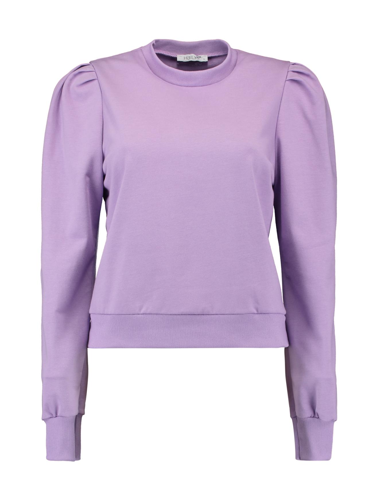 Cropped Sweatshirt mit Puffärmel