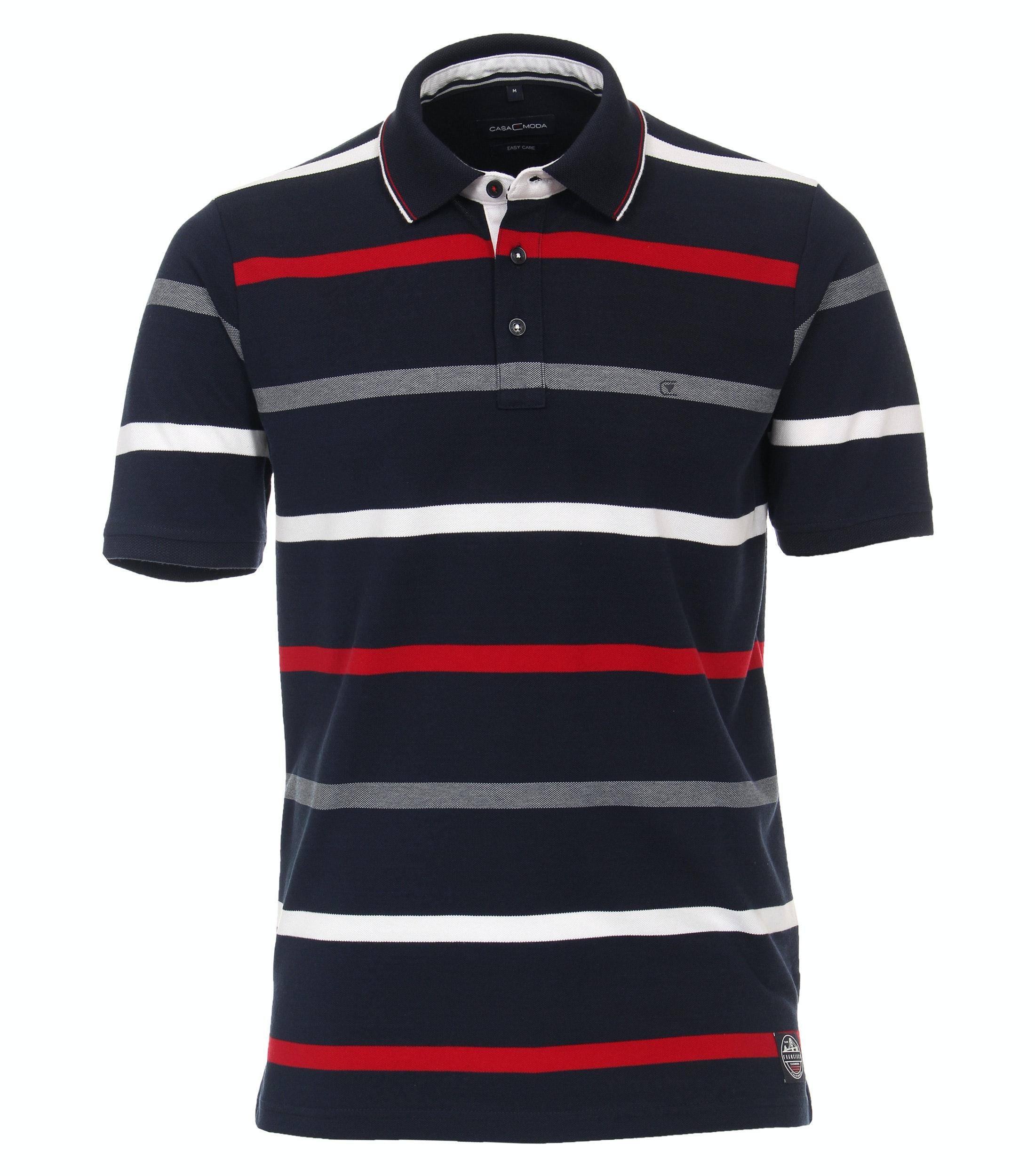 Casa Moda Polo-Shirt gemustert