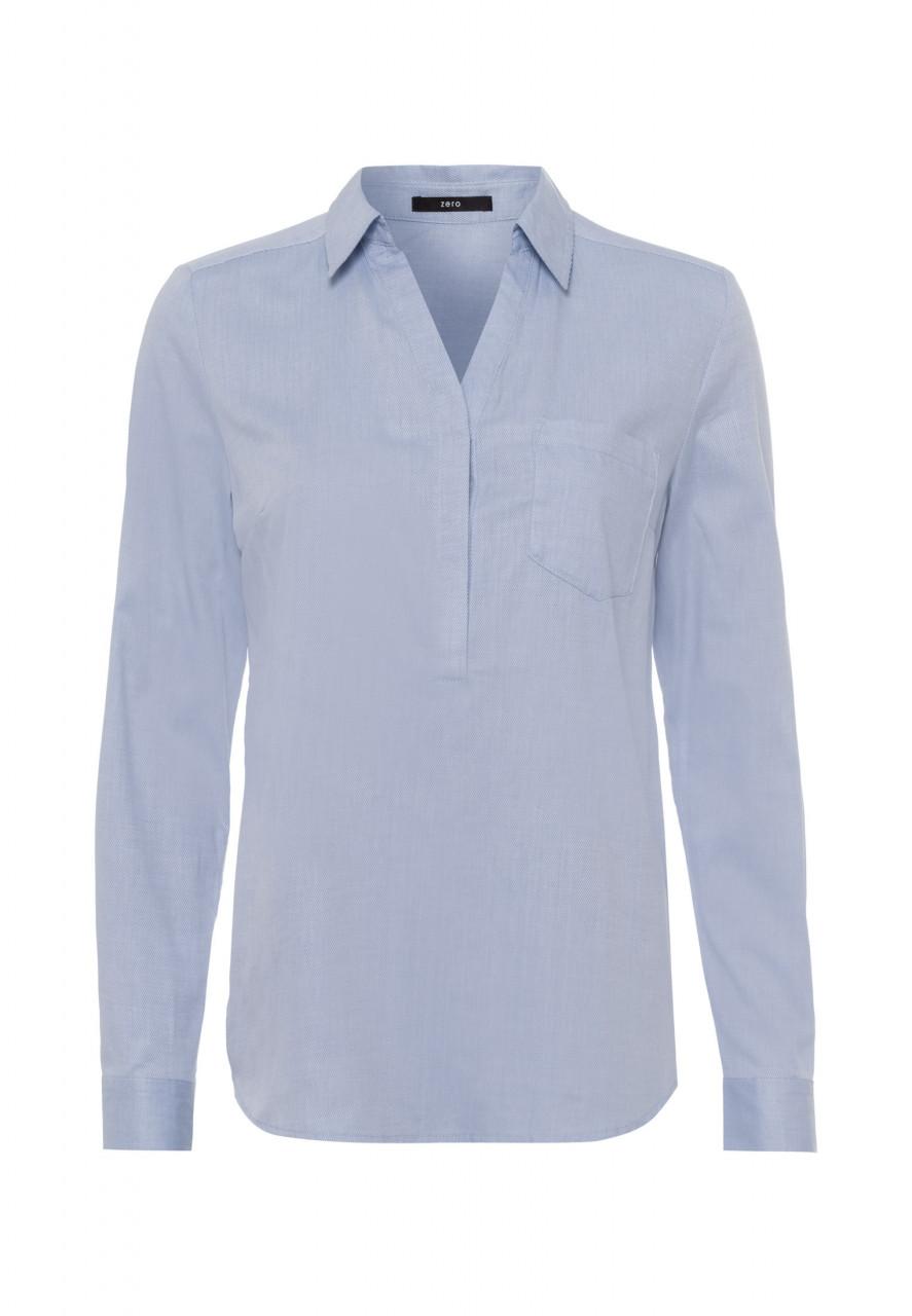 Zero Bluse mit Hemdblusenkragen