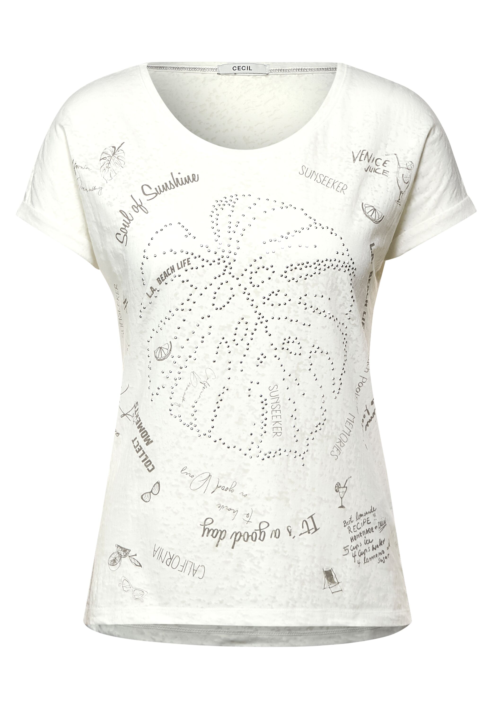 Cecil T-Shirt mit Burnout-Optik