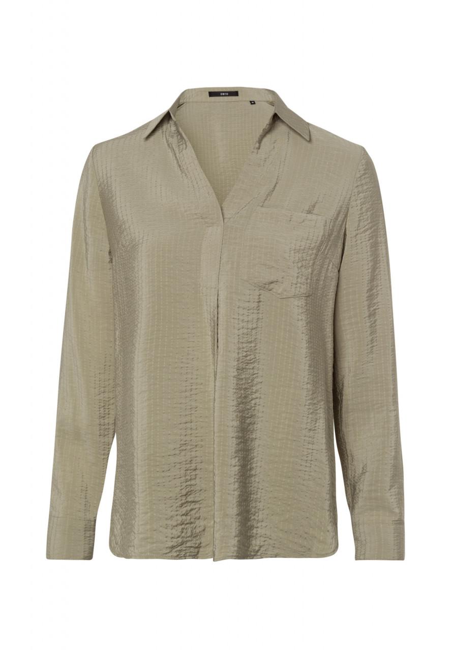 Zero Bluse mit Hemdkragen