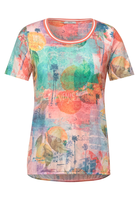 Cecil T-Shirt mit Burnout Optik